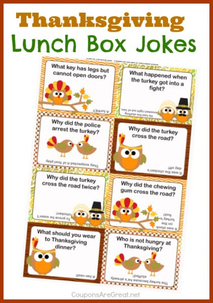 These Thanksgiving Lunch Box notes use Thanksgiving Jokes and are the perfect way to get smiles and laughter this Thanksgiving.
