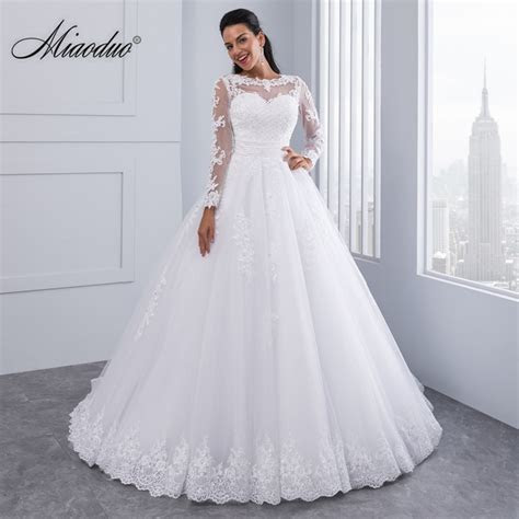 Miaoduo Ball Gown Wedding Dresses 2018 Detachable train
