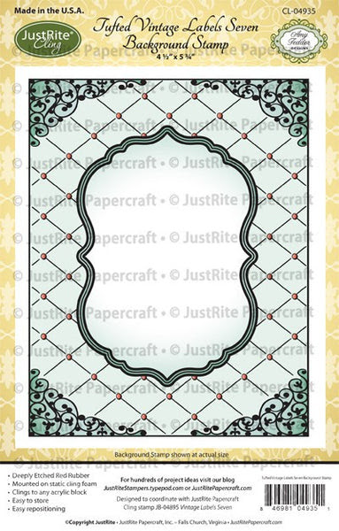 Tufted Cling Background Stamp