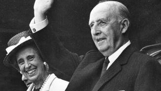 Francisco Franco amb la seva dona