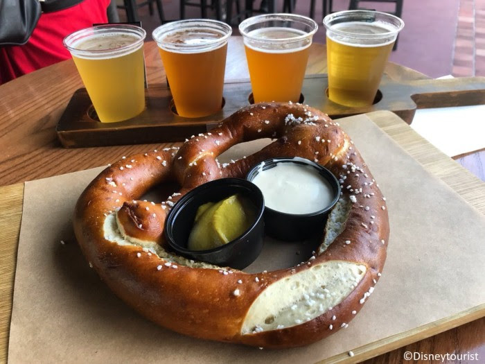 Can't go wrong with a sampler and a giant pretzel!