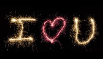 Show someone how much you love them with sparkler writing