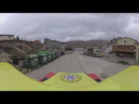 TERREMOTO: la telecamera a 360° ci porta dentro Visso, Castelluccio e San Severino Marche