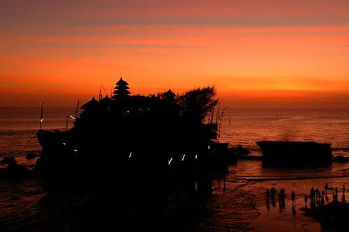 Tanah Lot sunset Bali Indonesia