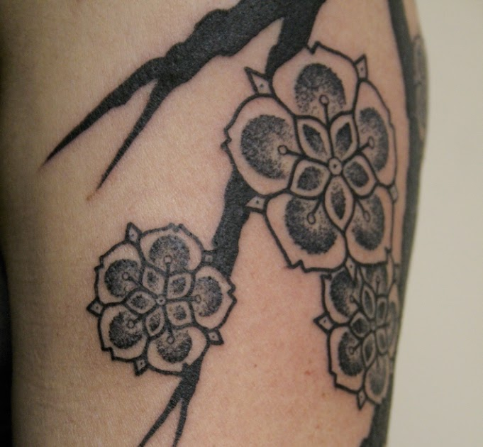 Cherry blossom tatto tattoos trends for Chinese triad tattoo