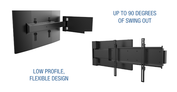 Peerless-AV® Launches Universal Swing-Out Wall Mount and Set Top Box Holder
