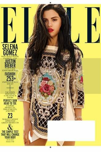 Selena Gomez Elle July 2012 Fashion Style