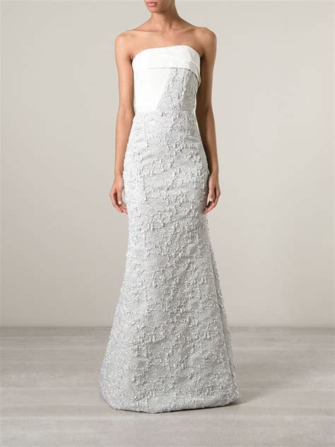 Roland mouret 'Kinlet' Bridal Gown in Gray   Lyst