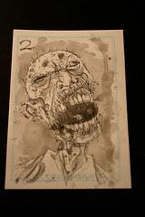 Zombie card 1 watercolour