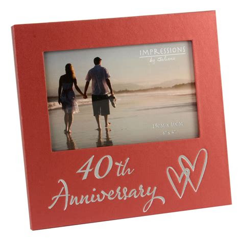 ruby wedding anniversary gifts wooden photo frame