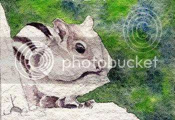 watercolour chipmunk painting