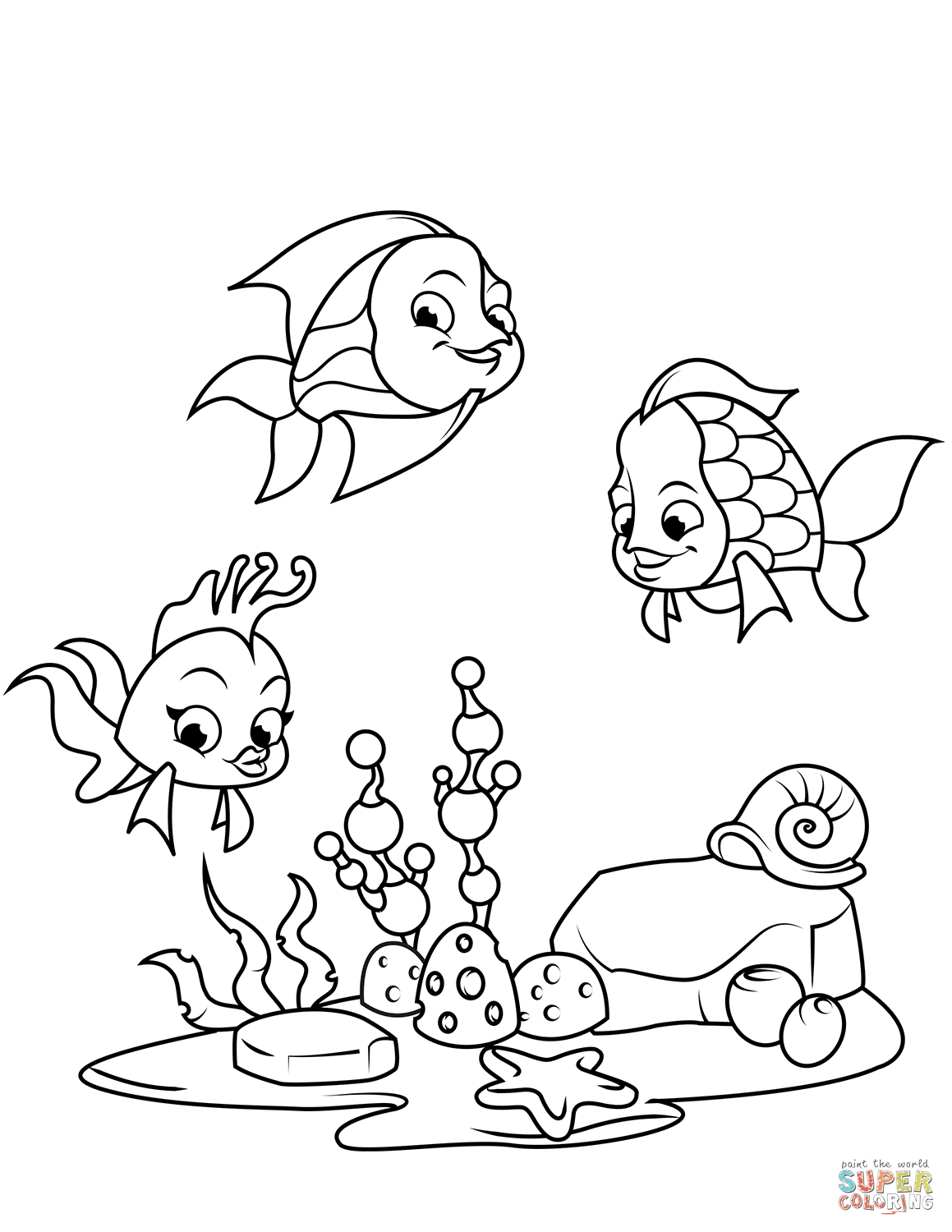 Coral Reef Fish coloring page | Free Printable Coloring Pages