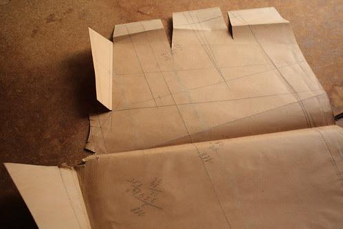 patroon op bruin papier