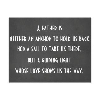 Dad Anchor Quote Canvas Print