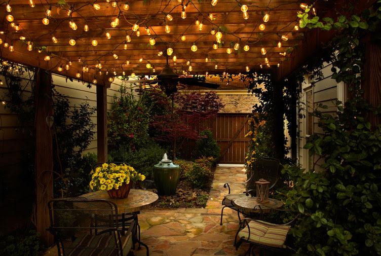 Cafe Style LED String Light Set - 25 Lights 20 Feet - End To End