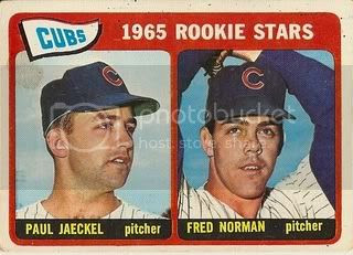 #386 Cubs Rookie Stars: Paul Jaeckel and Fred Norman