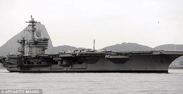 Navio: O porta-aviões USS Carl Vinson levou o corpo de Osama bin Laden para o mar da Arábia do Norte, onde vendiam-lo seguindo as tradições islâmicas
