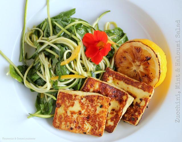 Zucchini, Mint & Haloumi Salad 2