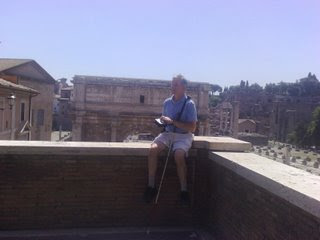 Mike at the Roman Colosseum