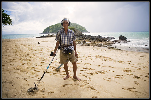 Treasure Hunter at Ya Nui Beach