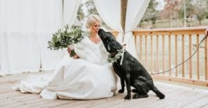 Bride Does A 'First Look' Photo Shoot With Her Dog