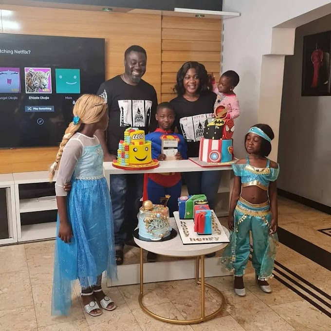 Mercy Johnson and hubby celebrate their son as he turns 7 (photos)