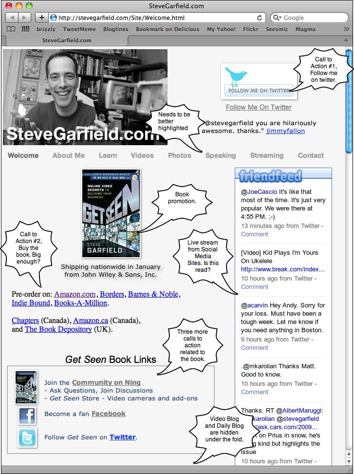 What Does My Site Do? stevegarfield.com screenshot