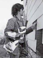 Gordon Matta-Clark trabajando en Splitting, 1974 Estate of Gordon Matta-Clark and David Zwirner, New York.