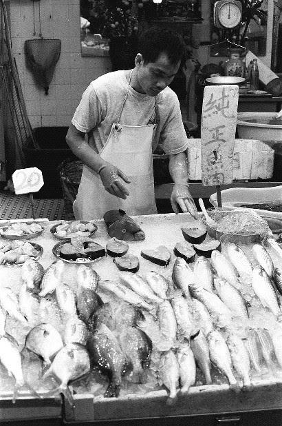 Graham Street Market in Hong Kong  Shop selling fish
