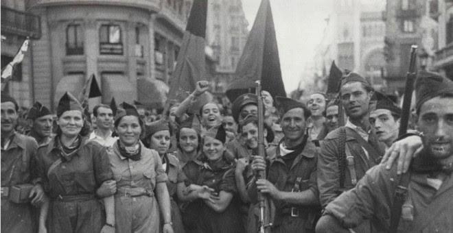 Militantes Anarquistas de la CNT durante la Guerra Civil