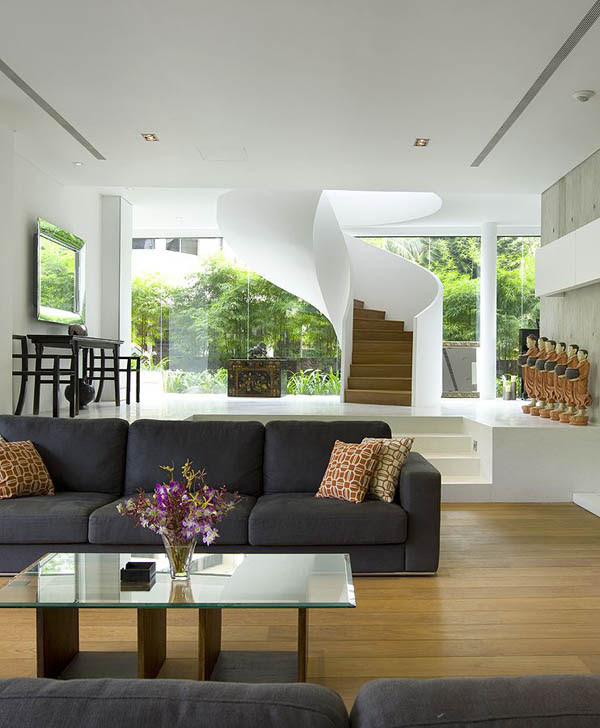 45 faber park residence 21 Gorgeous Sculptural Geometric Family Home in Singapore