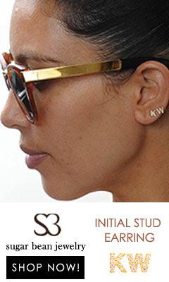 Sugar Bean Jewelry - initial Stud Earring