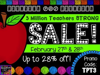 {FREE} TpT 3 Million Strong Sale Button {Creative Clips Di