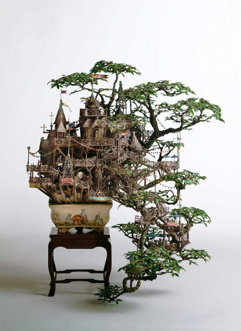 As intrincadas esculturas em miniatura de Takanori Aiba 01