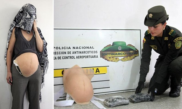 Colombian police say they have arrested a Toronto woman who simulated pregnancy to try to smuggle cocaine