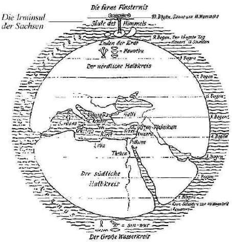 Ägyptischer Erdkreis und der Wasserkreis
