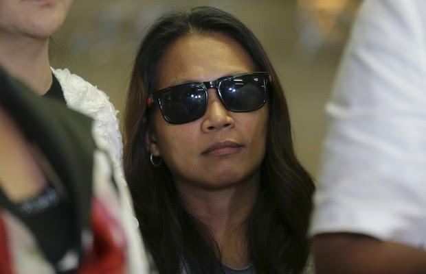 Maria Kristina Sergio, acusada de ser a recrutadora de Mary Jane Veloso. Mary Jane foi condenada à morte por tráfico de drogas na Indonésia (Foto: Aaron Favila/AP)