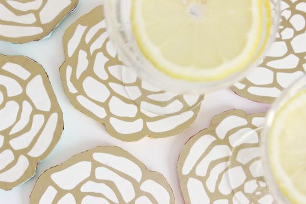 DIY Floral Coasters OSBP 3 DIY Tutorial: Floral Cocktail Party Coasters