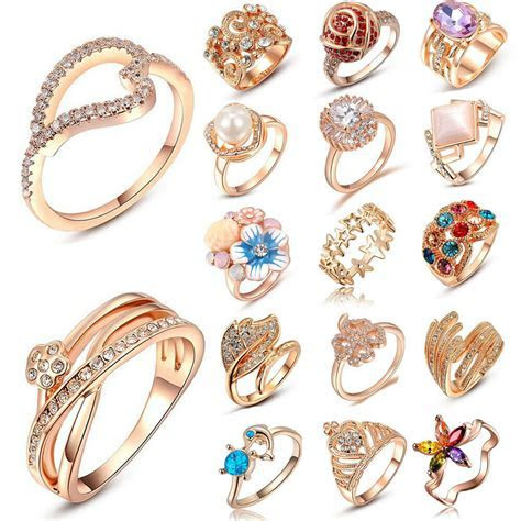 Fashion Charm Jewelry Women Lady 18k Rose Gold Plated