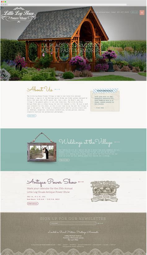 Wedding Venue Website Design   Organic Interactive