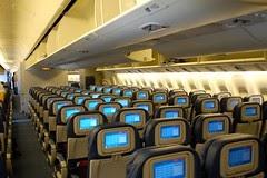 Business Flight Delta 777 200lr Economy Cabin Photo
