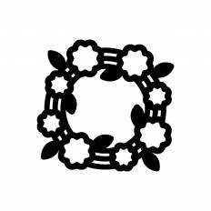 花かんむりシルエット イラストの無料ダウンロードサイトシルエットac