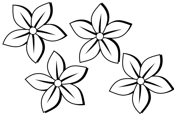 Free Black And White Pictures Of Flowers To Draw Download Free Clip