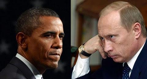 obama putin face off