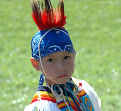 Boy in regalia
