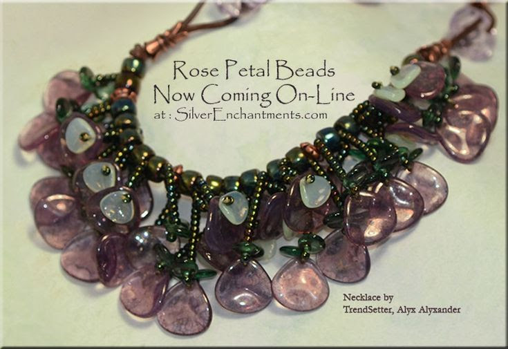 Czech Glass Rose Petal Beads
