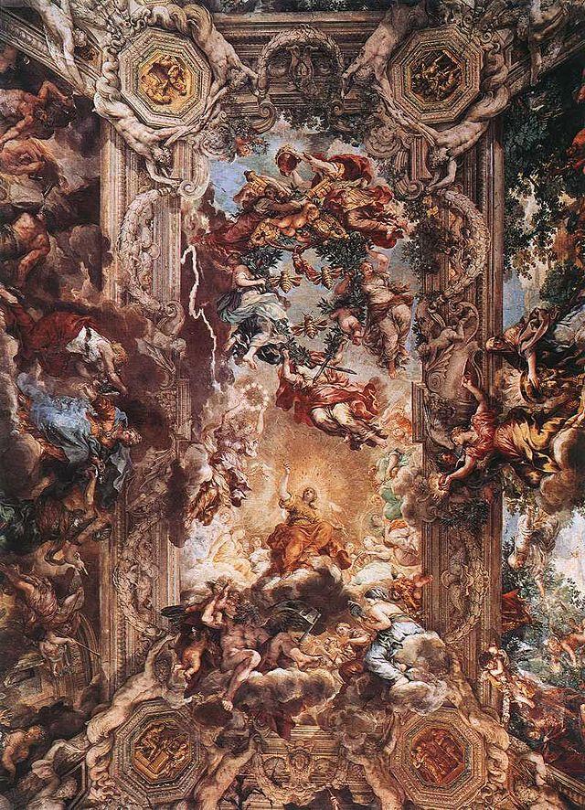 Pietro da Cortona - allegori av gudomlig försyn och Barberini driver - WGA17683.jpg