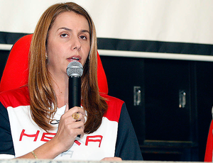 Patrícia Amorim, presidente do Flamengo (Foto: Márcia Feitosa / Vipcomm)