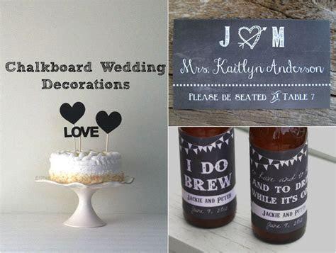 Chalkboard Wedding Decorations   Rustic Wedding Chic