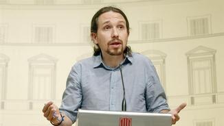 Iglesias afirma que les diferències principals amb el PSOE i Ciutadans durant la reunió van ser sobretot en el programa econòmic (EFE)
